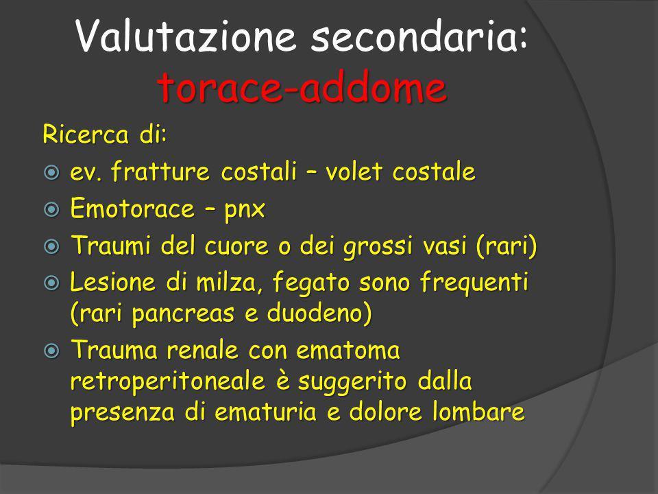 Valutazione secondaria: torace-addome