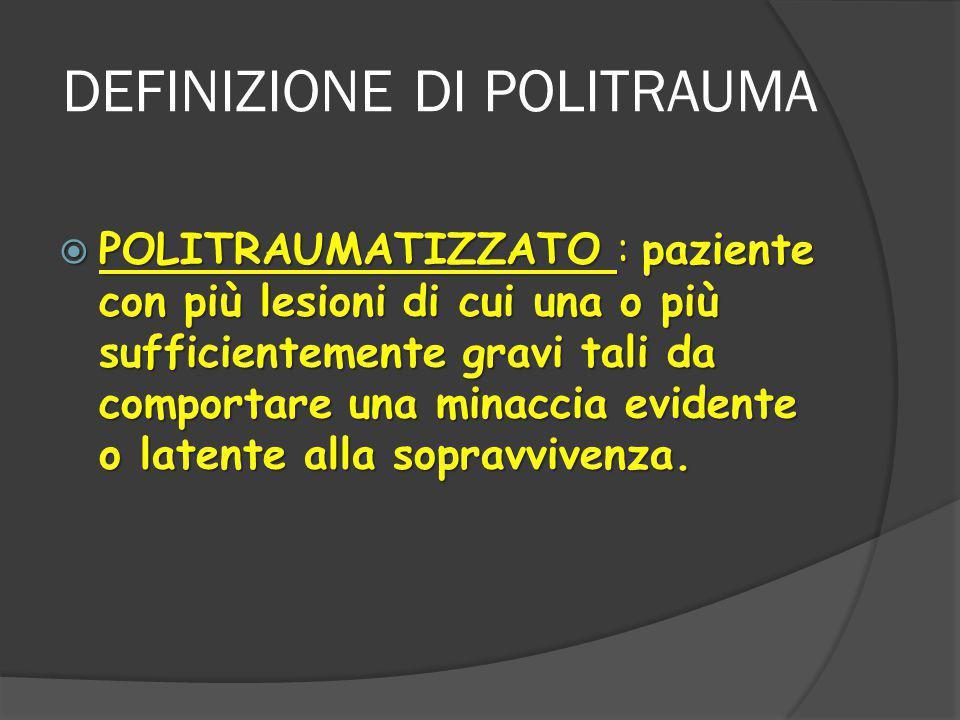 DEFINIZIONE DI POLITRAUMA