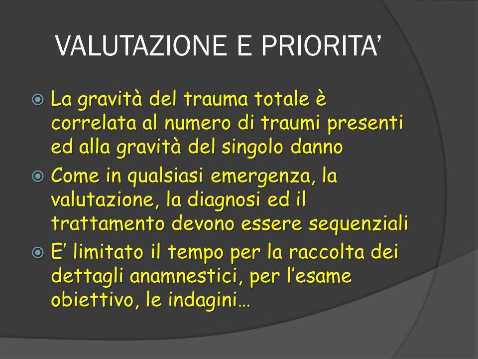 VALUTAZIONE E PRIORITA'