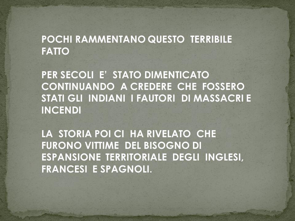 POCHI RAMMENTANO QUESTO TERRIBILE FATTO