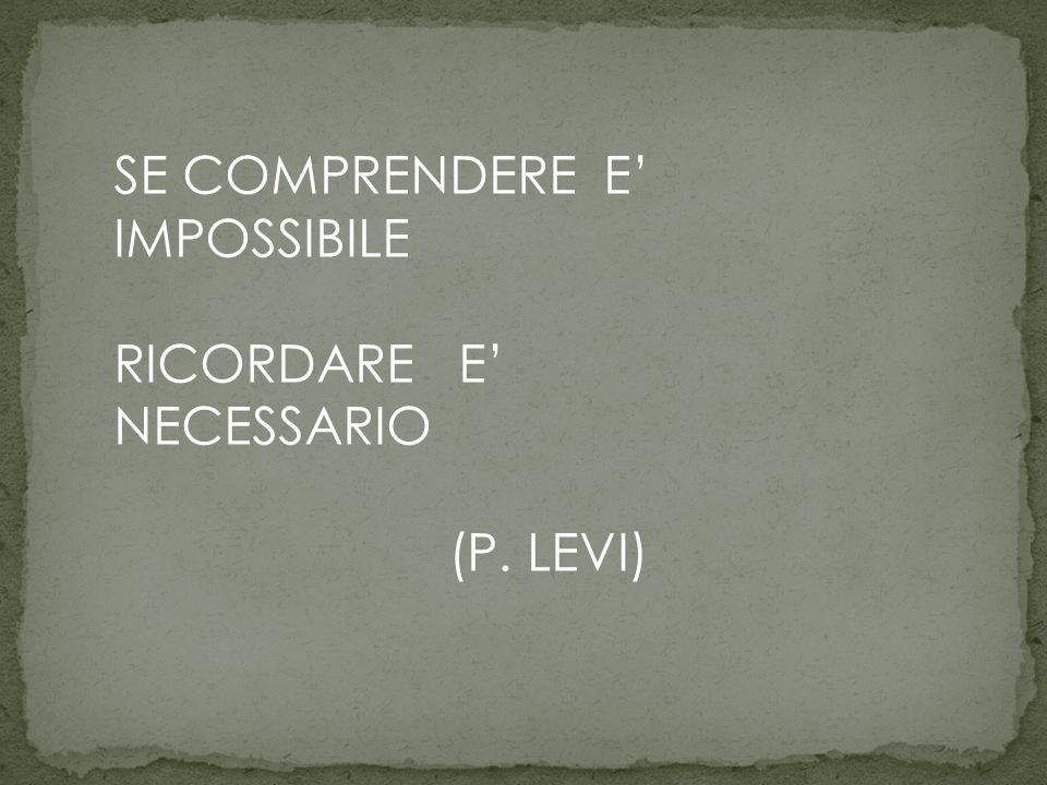 SE COMPRENDERE E' IMPOSSIBILE