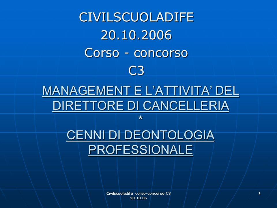 CIVILSCUOLADIFE 20.10.2006 Corso - concorso C3