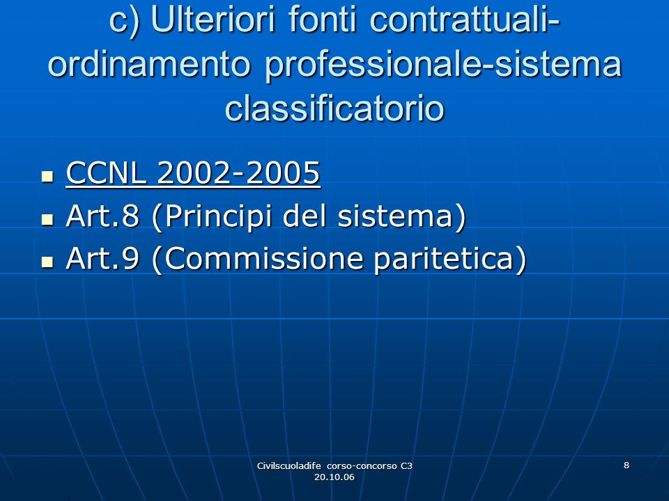 Civilscuoladife corso-concorso C3 20.10.06
