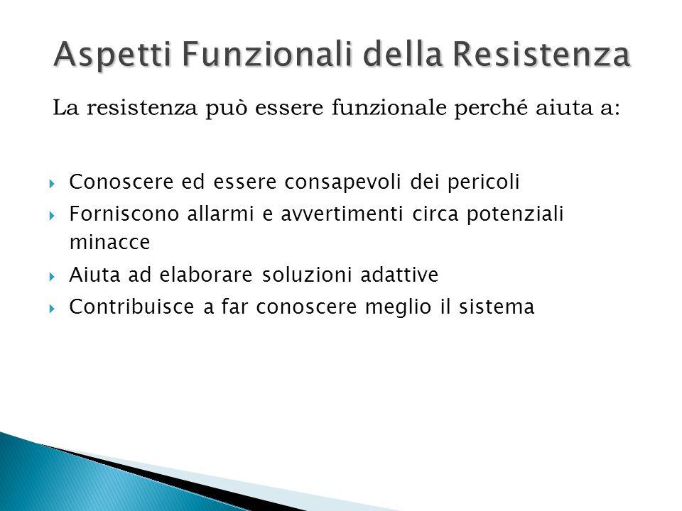 Aspetti Funzionali della Resistenza