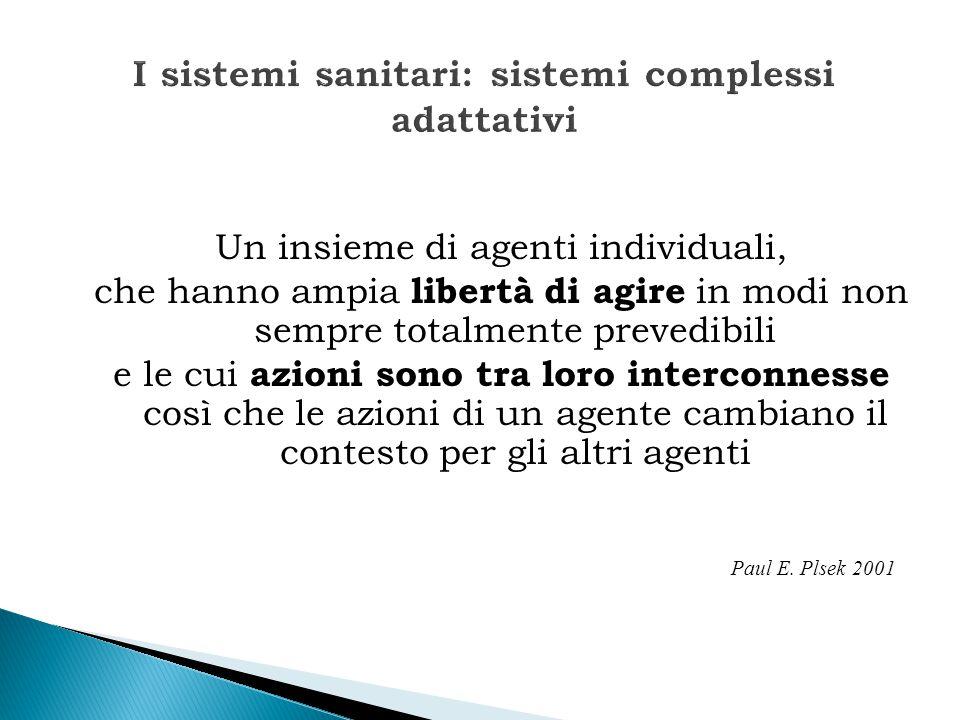 I sistemi sanitari: sistemi complessi adattativi