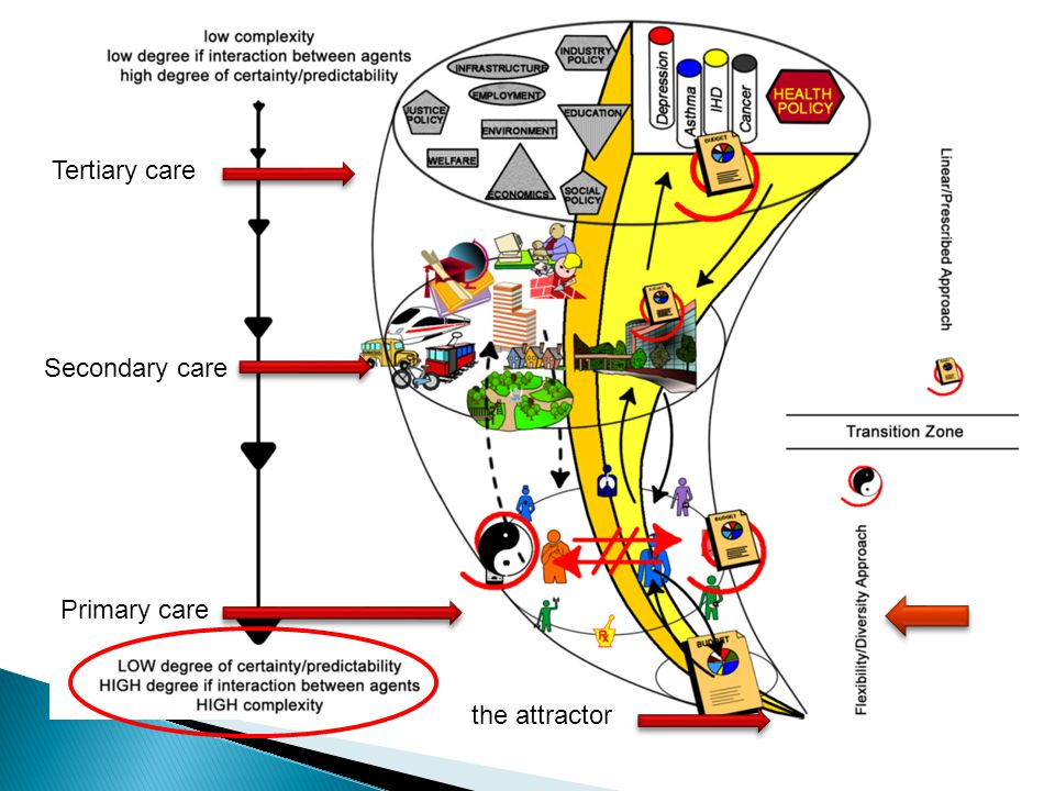 Tertiary care Secondary care Primary care the attractor