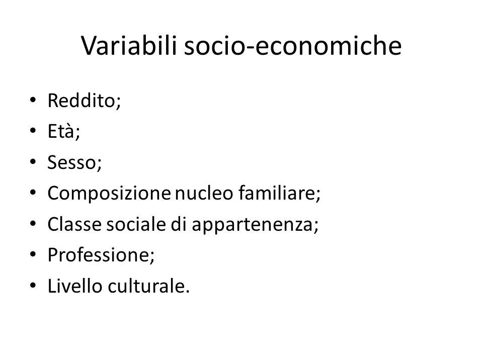 Variabili socio-economiche