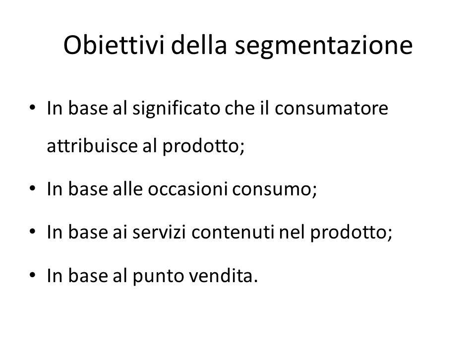 Obiettivi della segmentazione