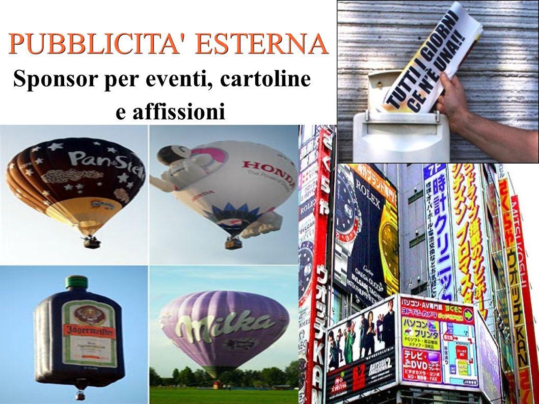 Sponsor per eventi, cartoline e affissioni