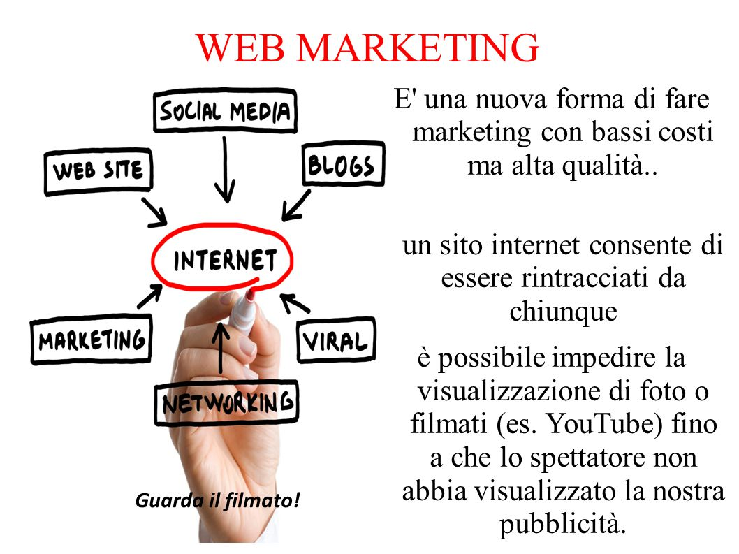 WEB MARKETING E una nuova forma di fare marketing con bassi costi ma alta qualità..