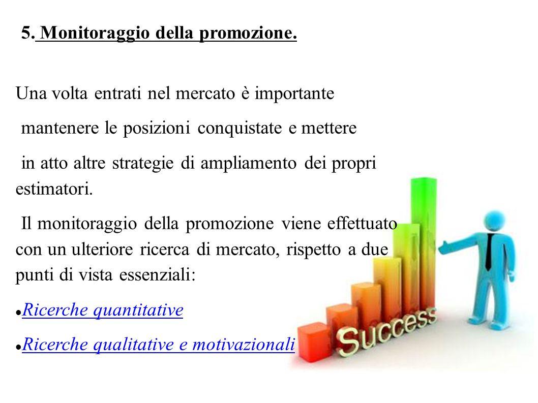 5. Monitoraggio della promozione.