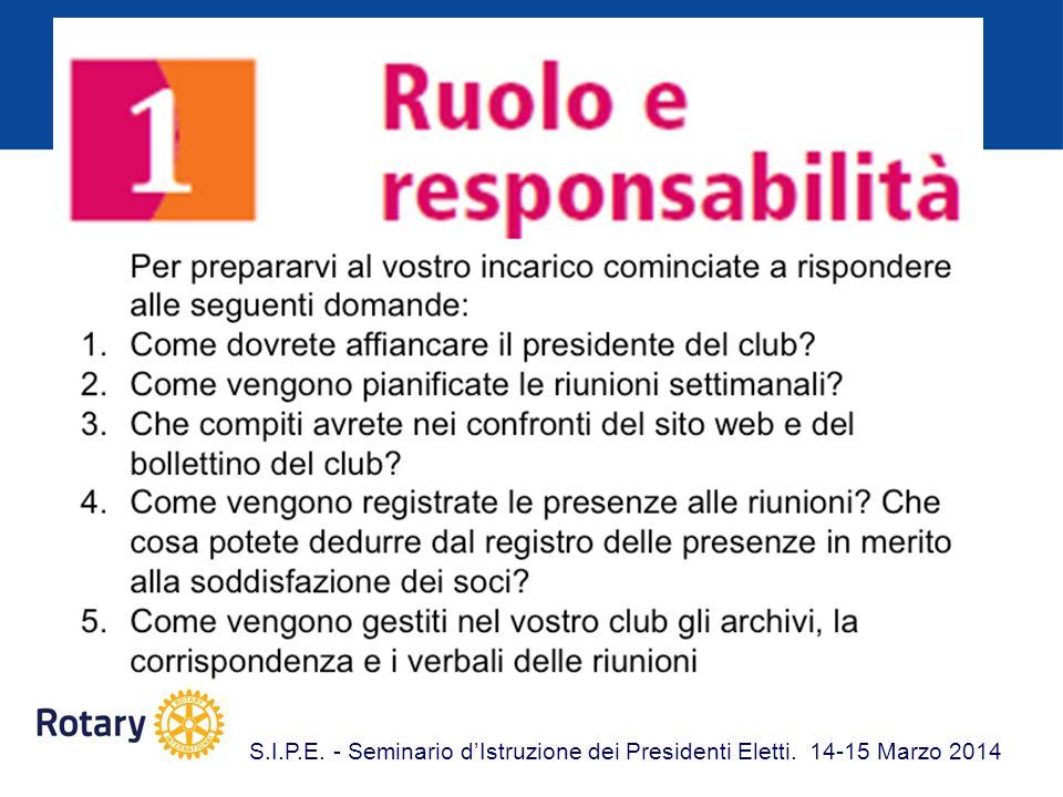 S. I. P. E. - Seminario d'Istruzione dei Presidenti Eletti
