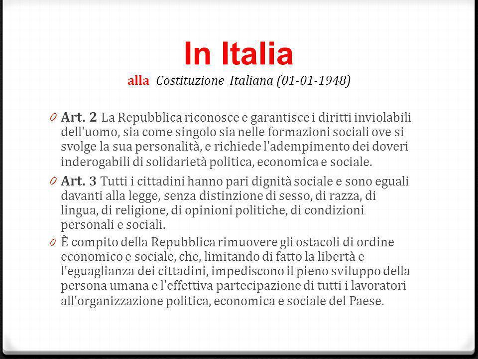 In Italia alla Costituzione Italiana (01-01-1948)