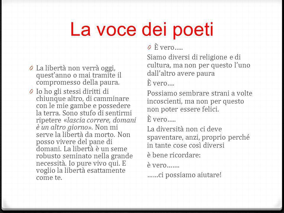 La voce dei poeti È vero…..