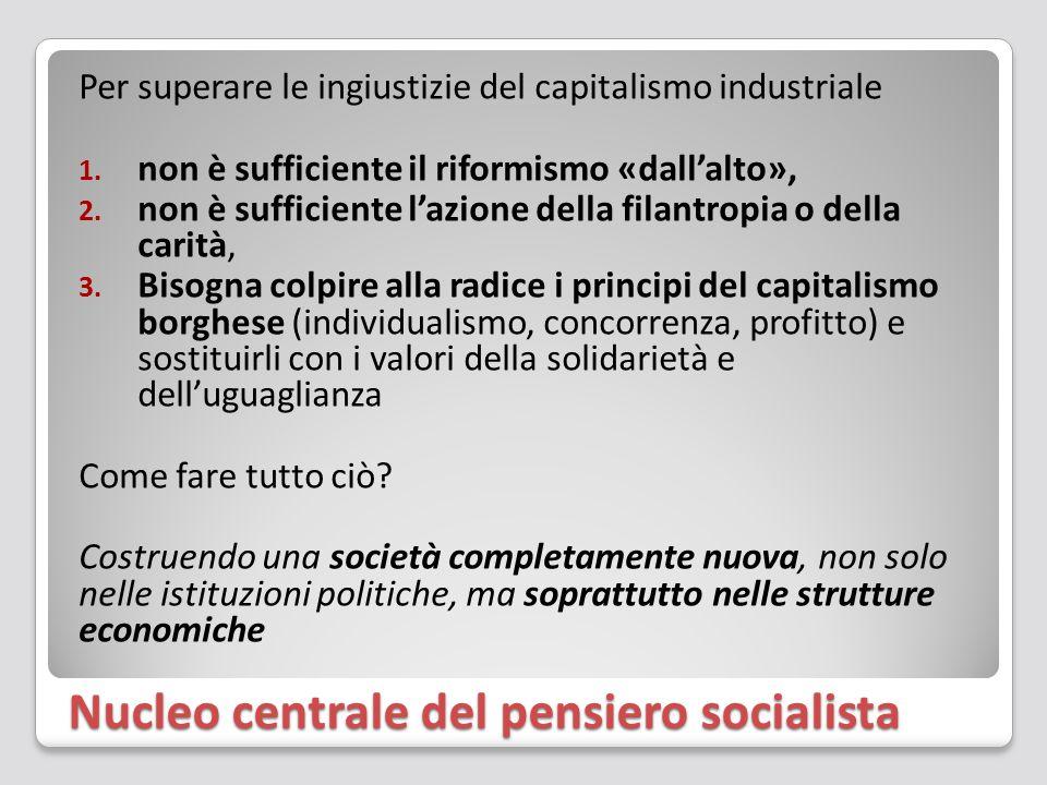 Nucleo centrale del pensiero socialista