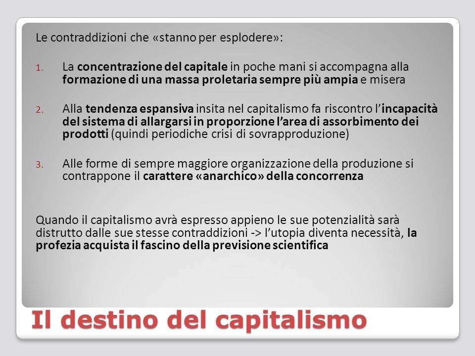 Il destino del capitalismo
