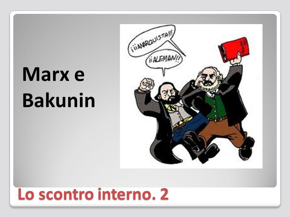 Marx e Bakunin Lo scontro interno. 2