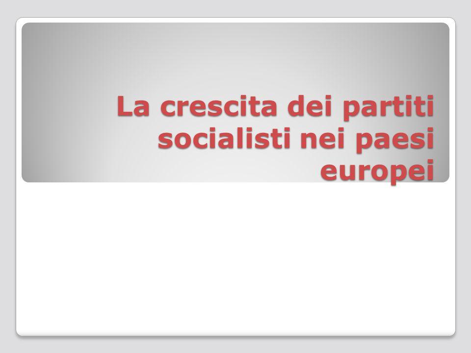 La crescita dei partiti socialisti nei paesi europei