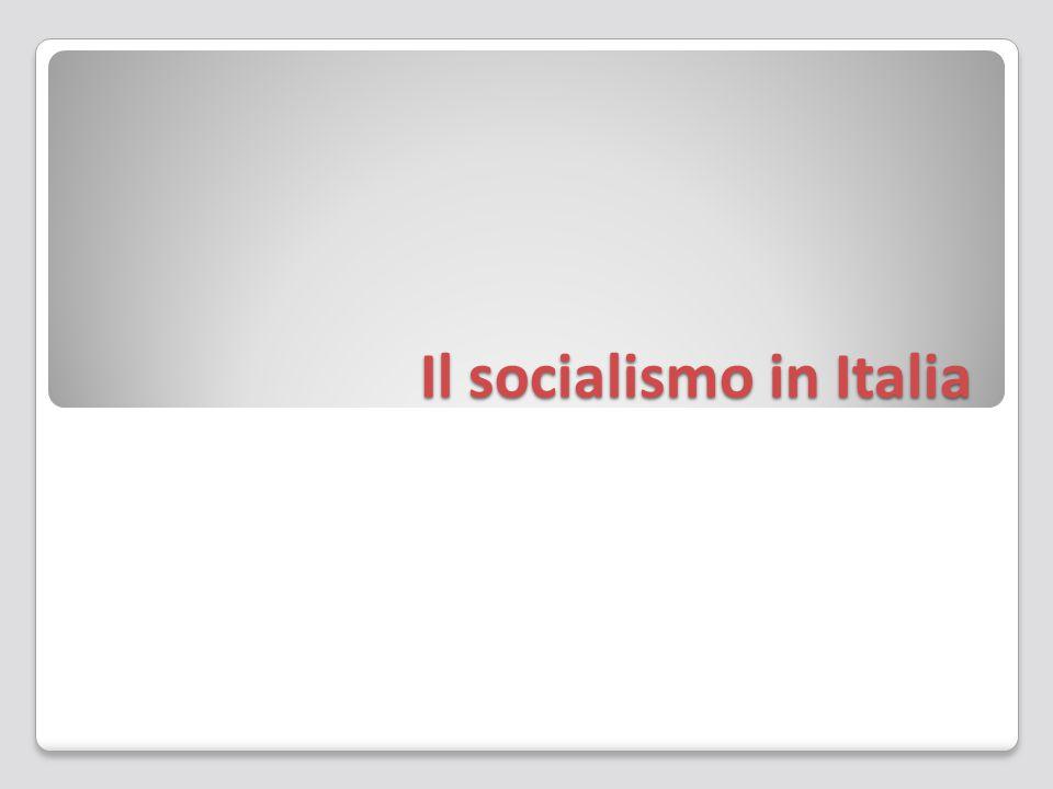 Il socialismo in Italia