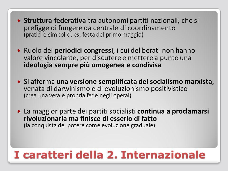 I caratteri della 2. Internazionale