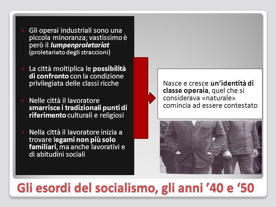 Gli esordi del socialismo, gli anni '40 e '50
