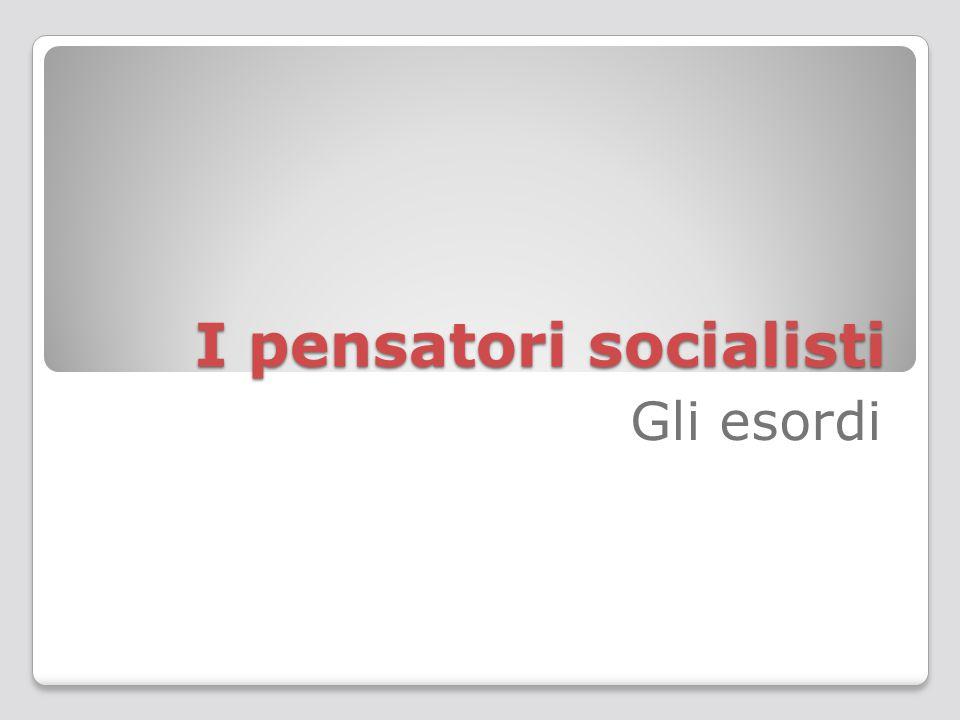 I pensatori socialisti