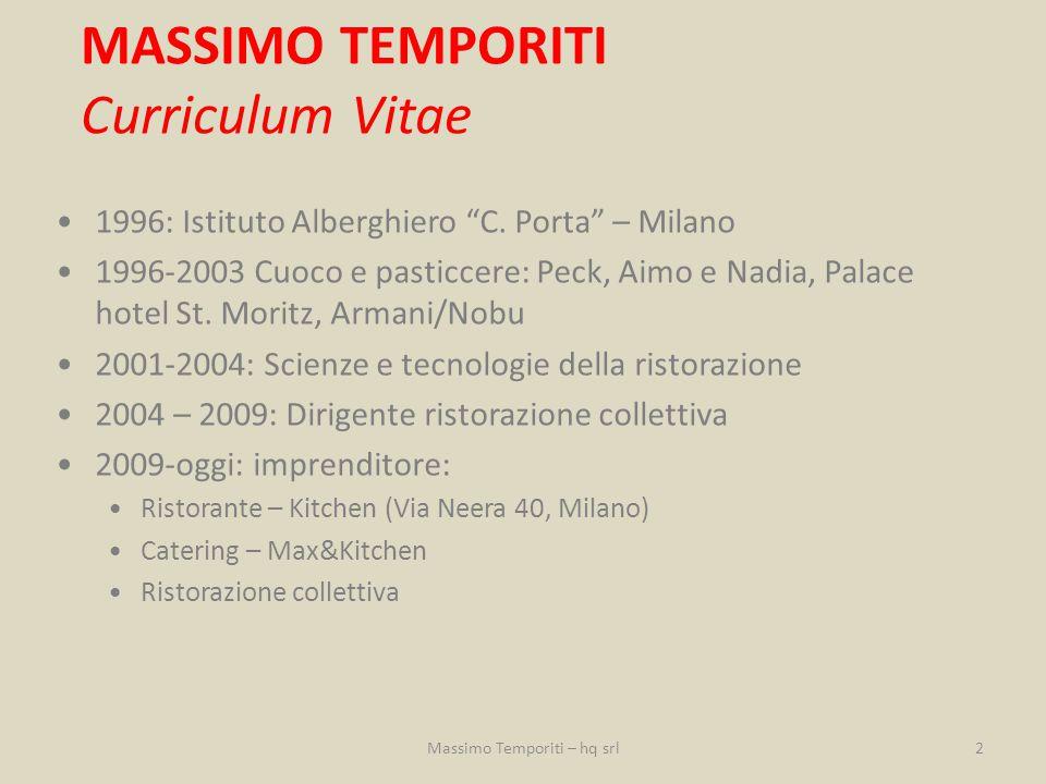 MASSIMO TEMPORITI Curriculum Vitae