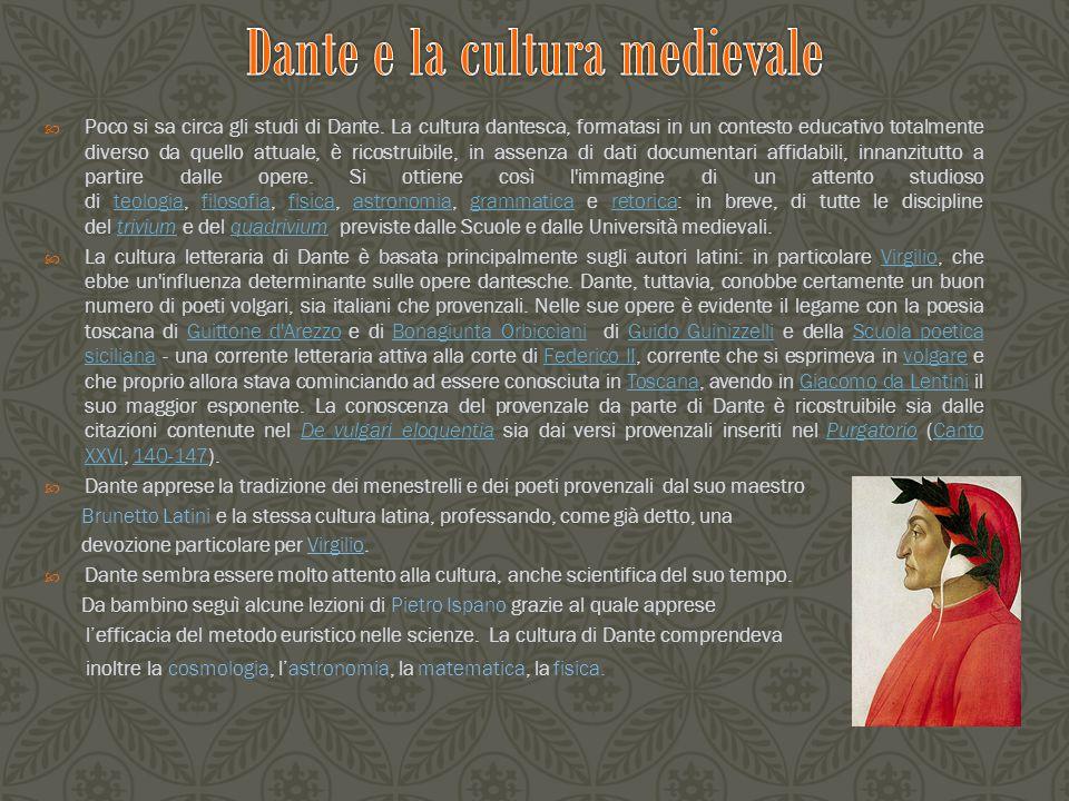 Dante e la cultura medievale