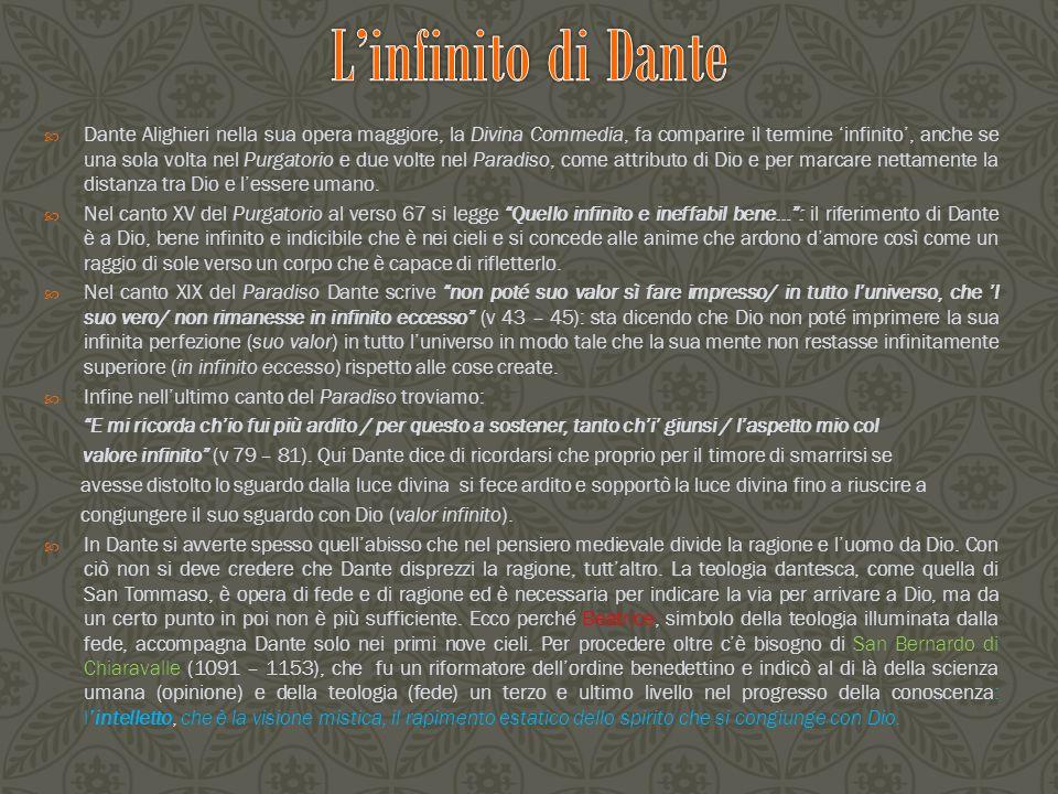 L'infinito di Dante