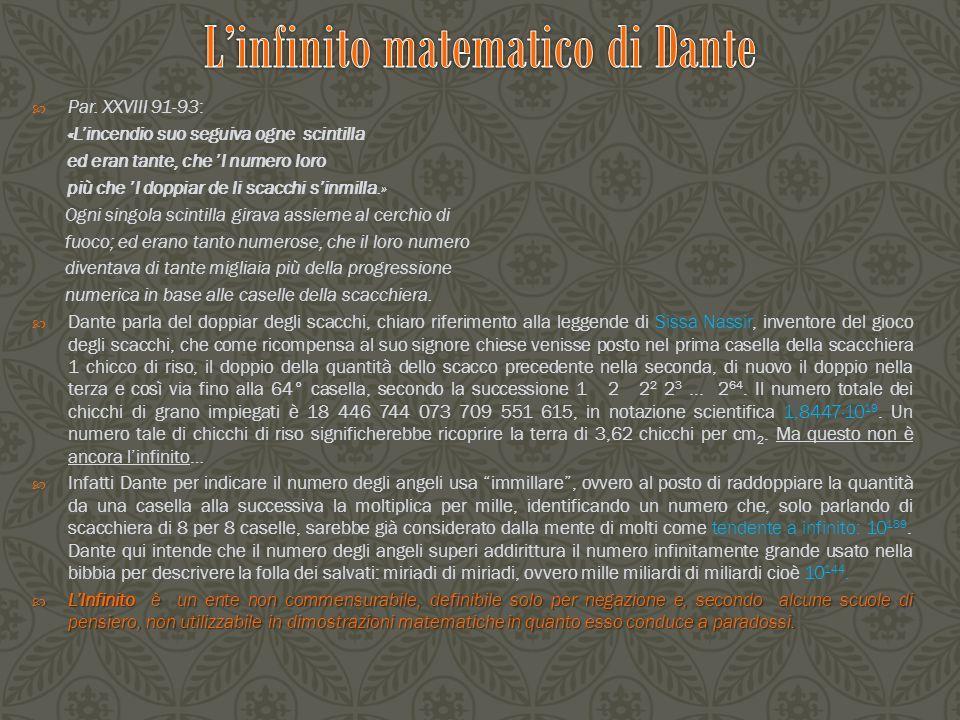 L'infinito matematico di Dante
