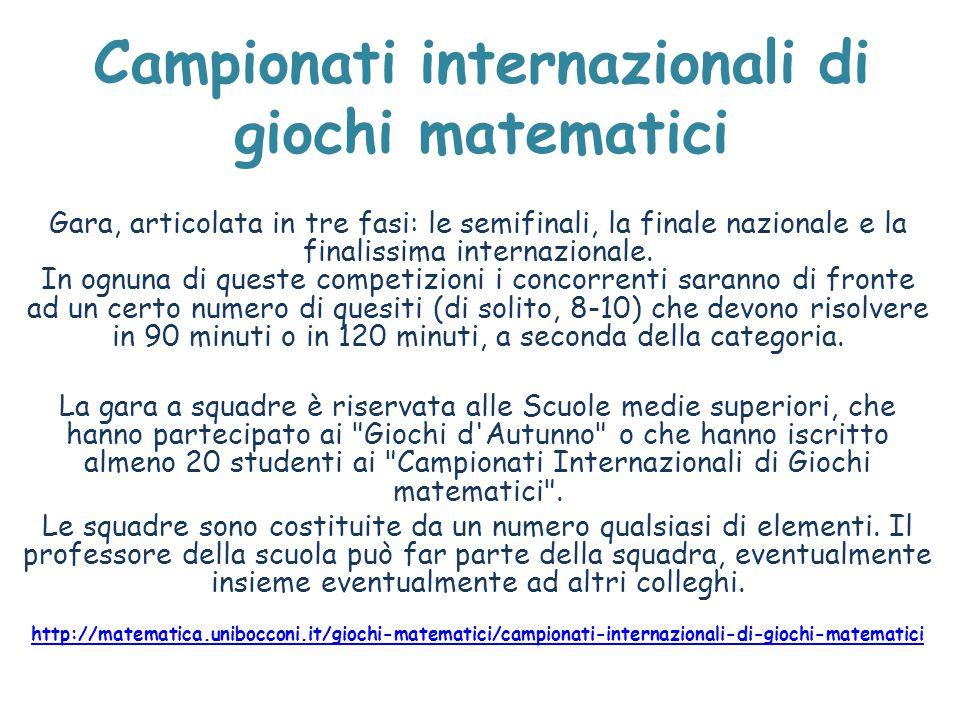 Campionati internazionali di giochi matematici