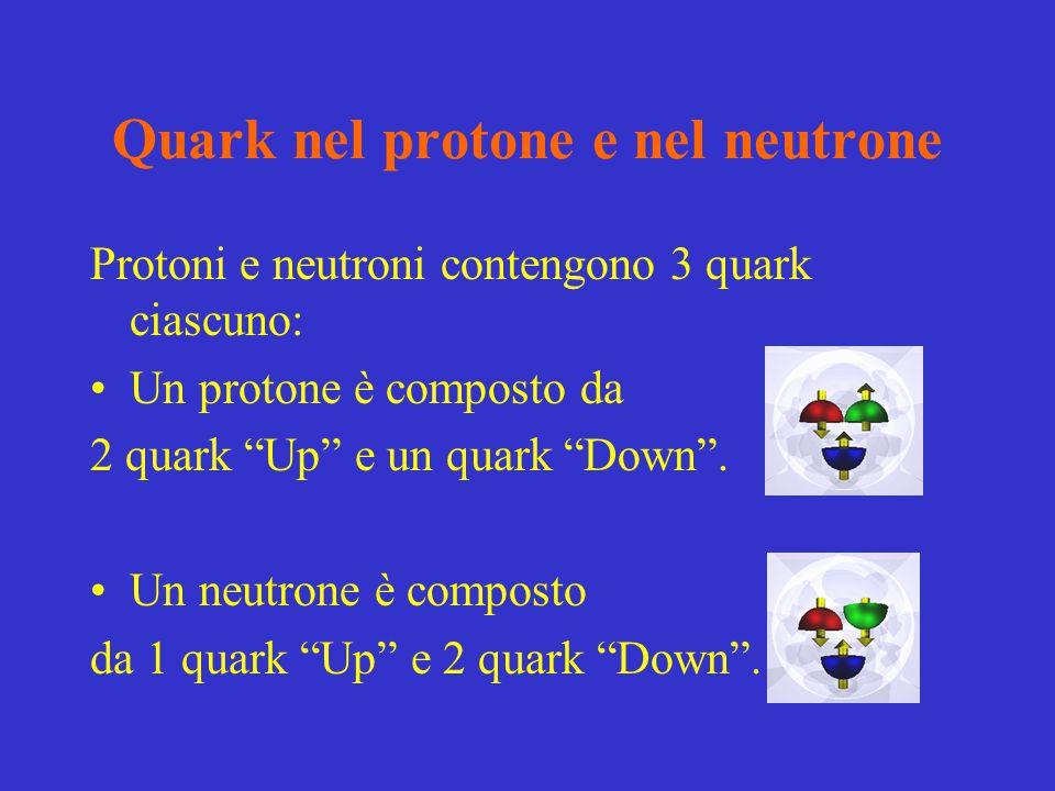 Quark nel protone e nel neutrone