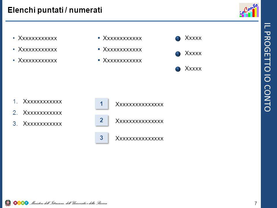 Elenchi puntati / numerati