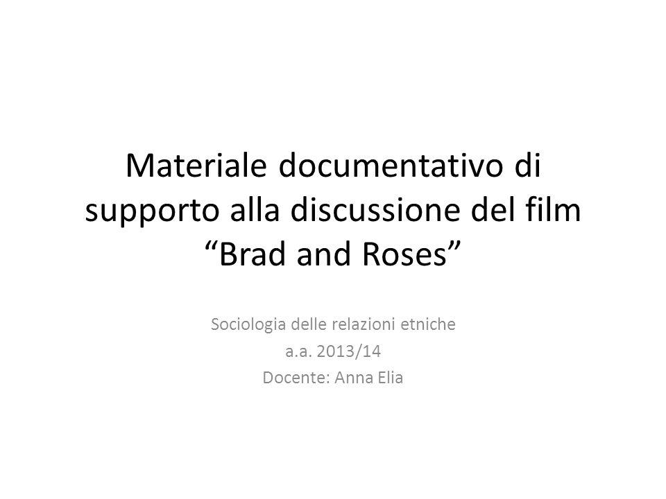Sociologia delle relazioni etniche a.a. 2013/14 Docente: Anna Elia