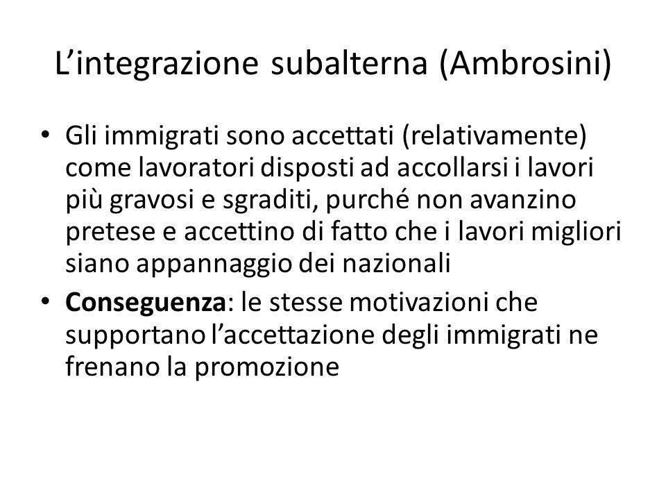 L'integrazione subalterna (Ambrosini)
