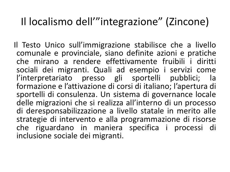Il localismo dell' integrazione (Zincone)