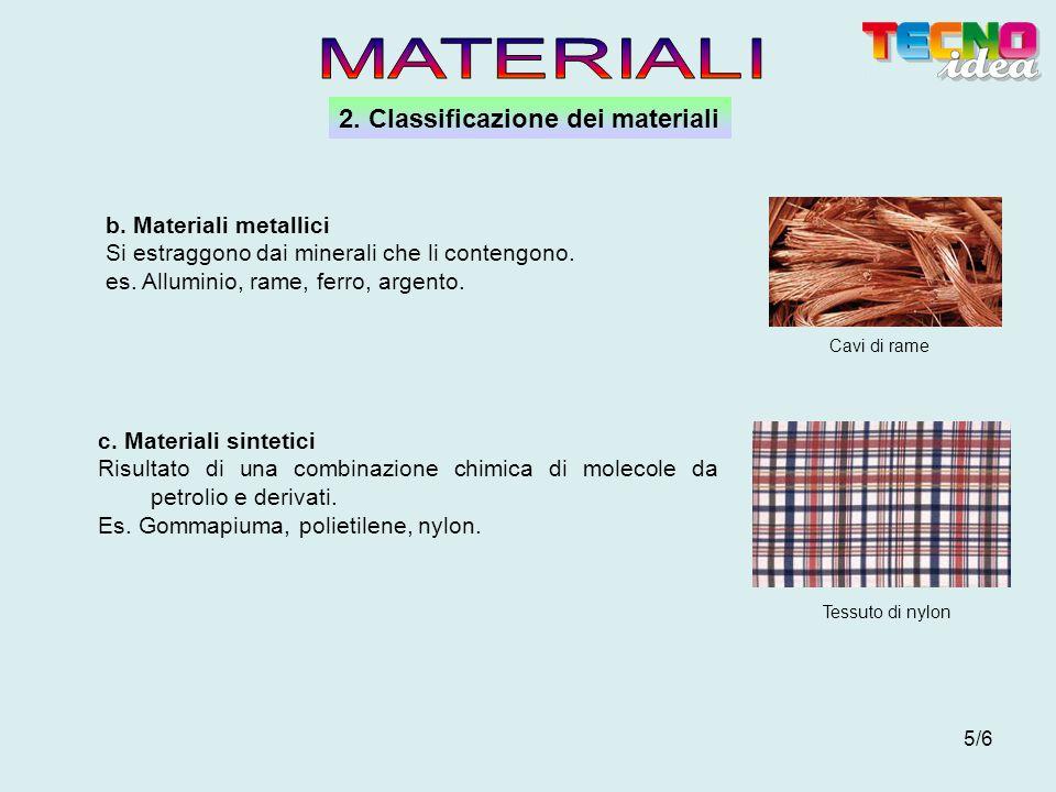 MATERIALI 2. Classificazione dei materiali b. Materiali metallici