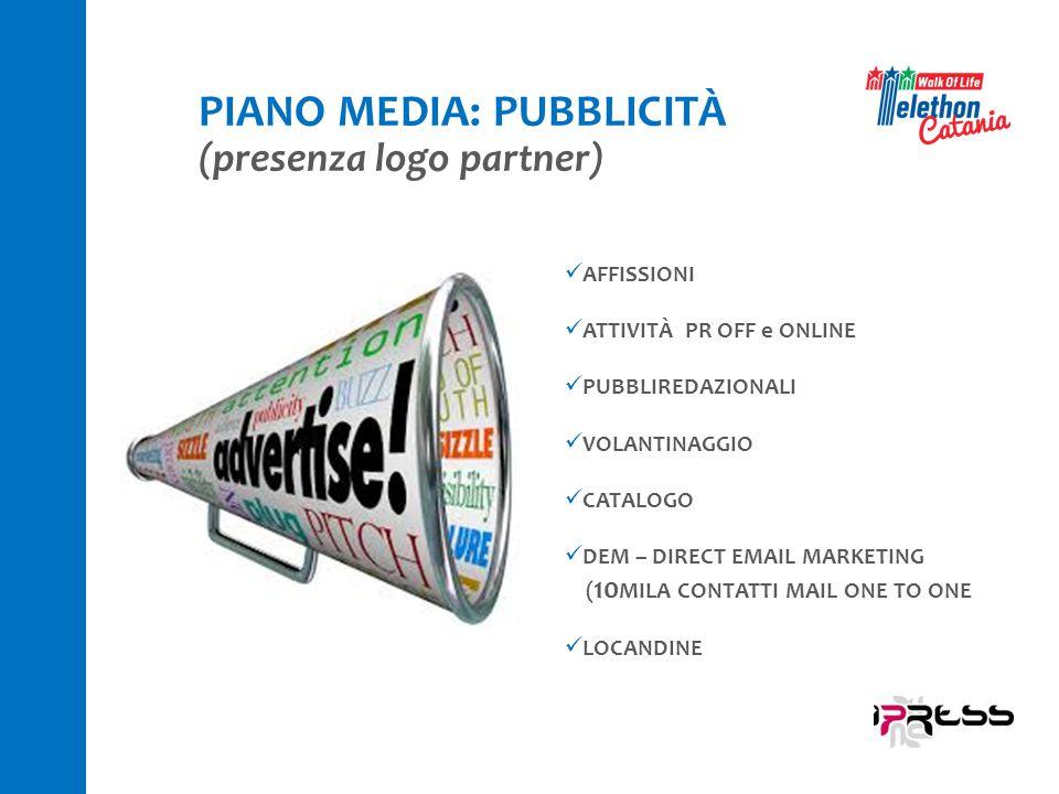 PIANO MEDIA: PUBBLICITÀ