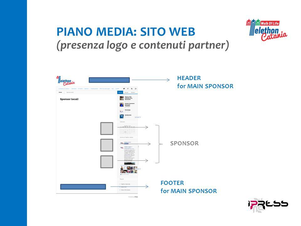 PIANO MEDIA: SITO WEB (presenza logo e contenuti partner) HEADER