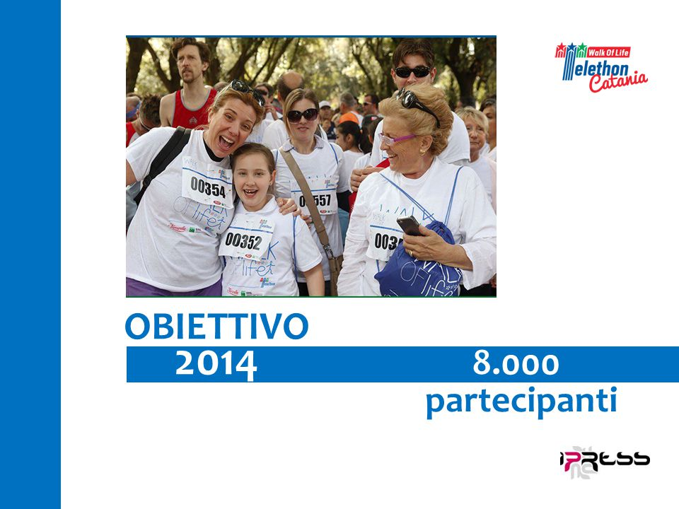8.000 partecipanti OBIETTIVO 2014
