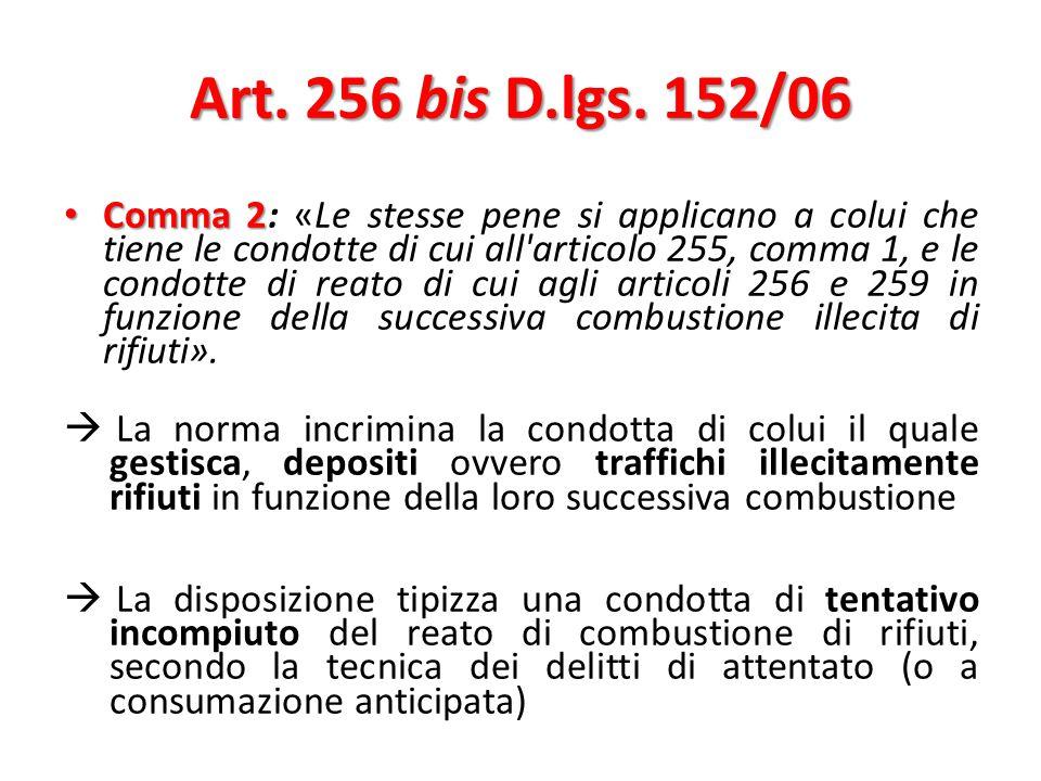 Art. 256 bis D.lgs. 152/06