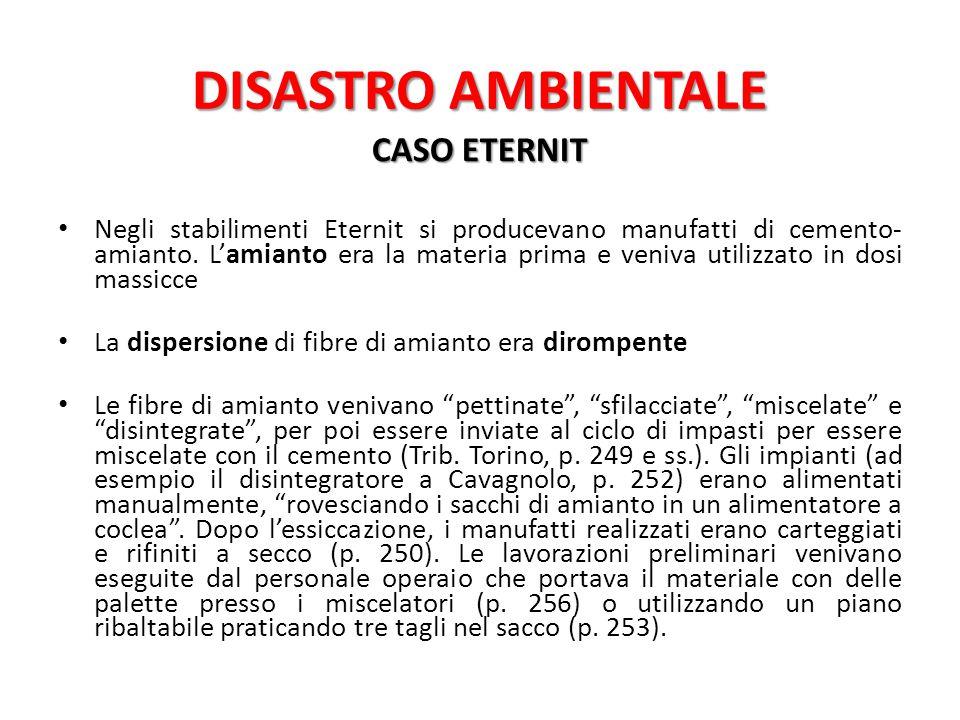 DISASTRO AMBIENTALE CASO ETERNIT
