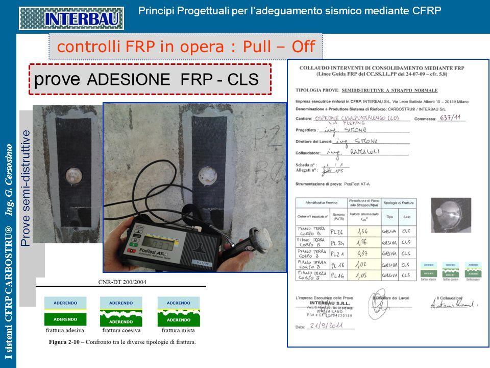 prove ADESIONE FRP - CLS