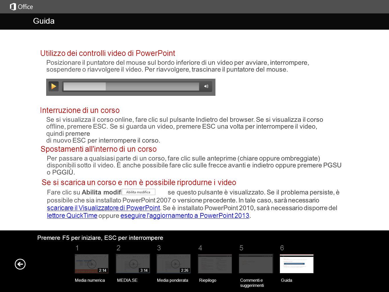 Guida Guida Utilizzo dei controlli video di PowerPoint