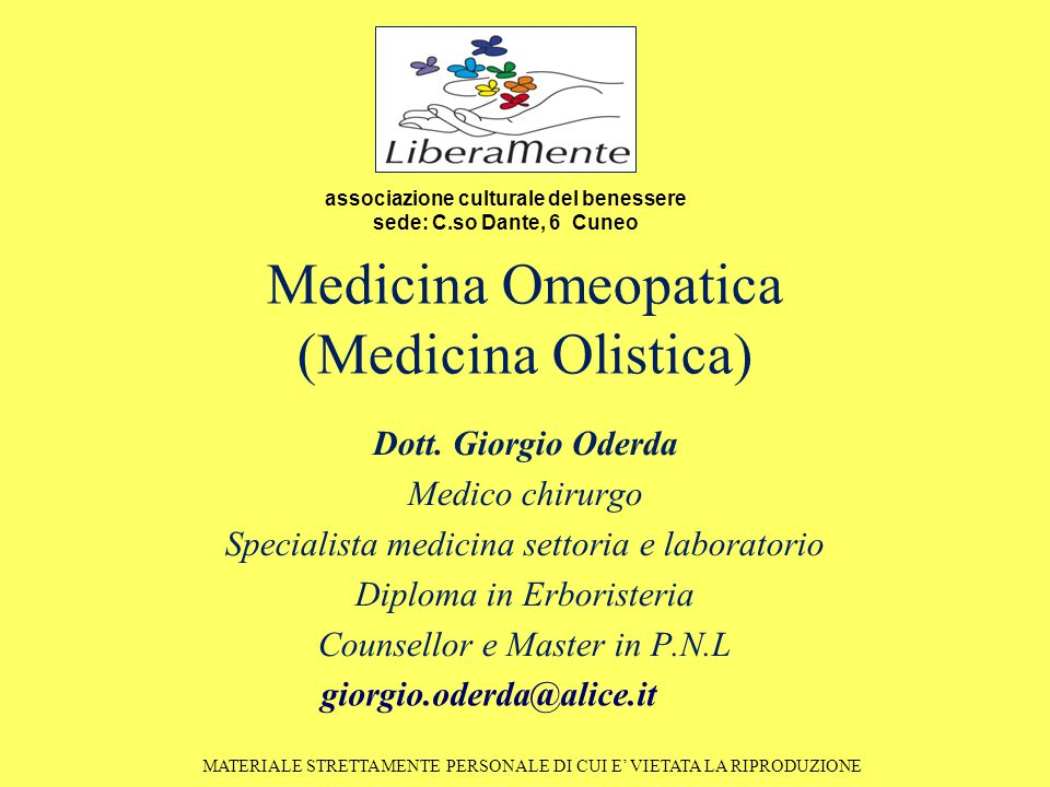 Medicina Omeopatica (Medicina Olistica)