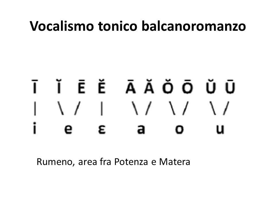 Vocalismo tonico balcanoromanzo
