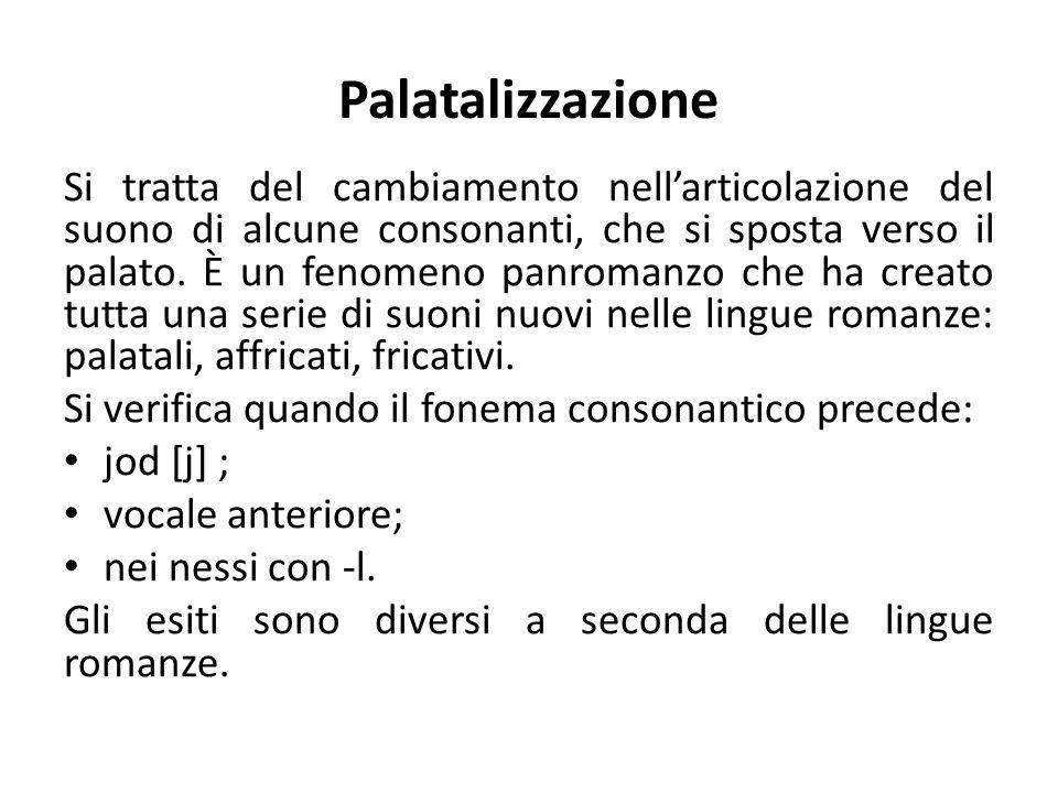 Palatalizzazione