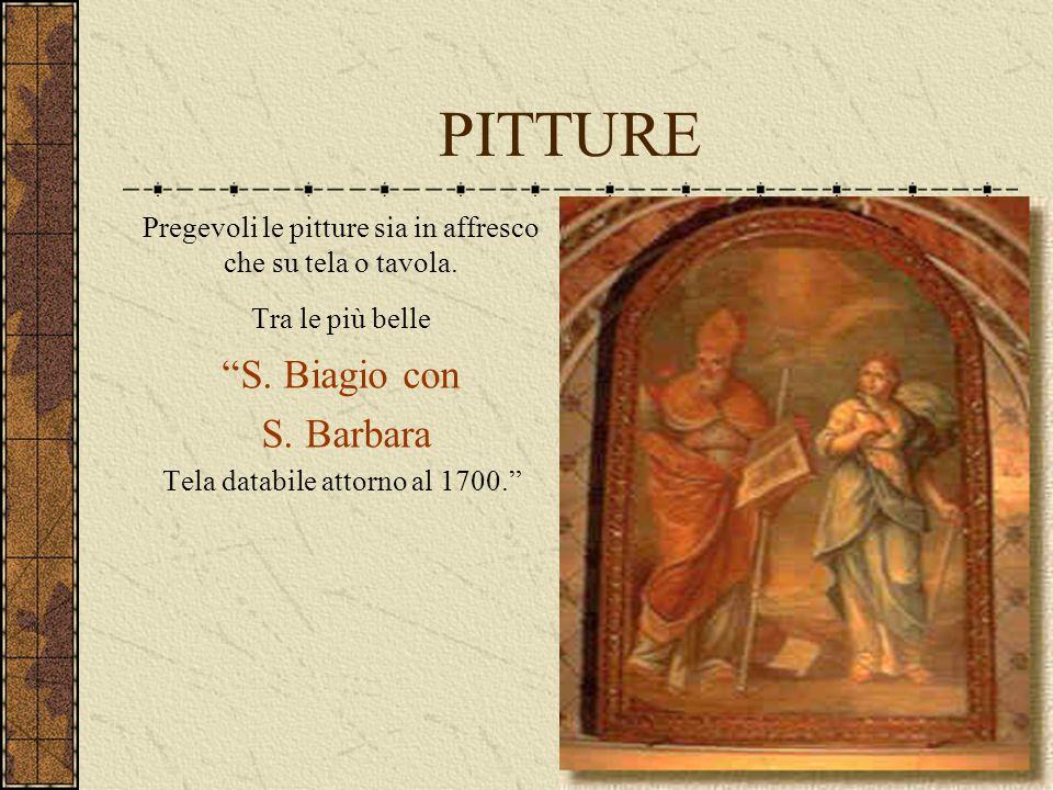 PITTURE S. Biagio con S. Barbara