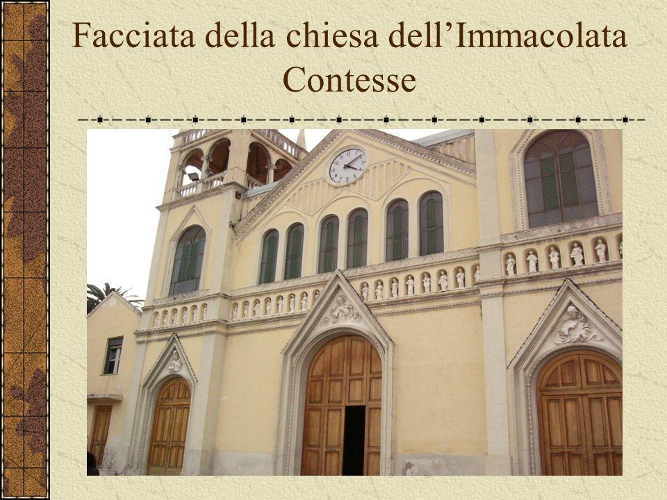 Facciata della chiesa dell'Immacolata Contesse
