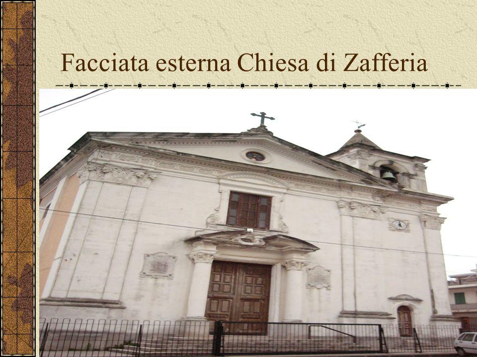 Facciata esterna Chiesa di Zafferia
